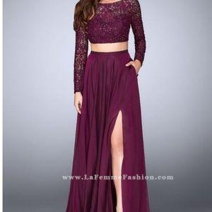 Dresses & Skirts - La femme burgundy 2 piece dress